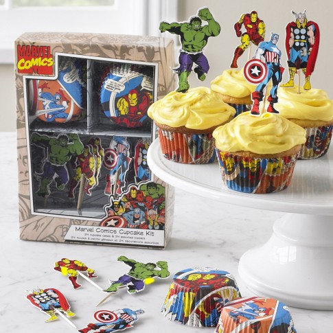 Kit de Marvel para decorar Cupcakes